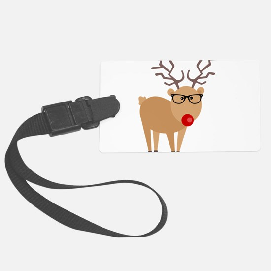 Hipster Rudolph Reindeer Cute Holiday Art Luggage