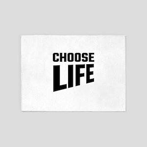 Choose Life 5'x7'Area Rug