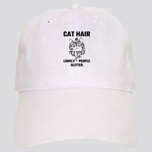 Cat Hair Is Lonely People Glitter Cap