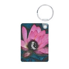 Pretty In Pink 8 Ball Aluminum Photo Keychain