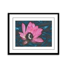 Pretty In Pink 8 Ball Framed Panel Print