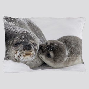 Seal Pup Kisses Mom Pillow Case