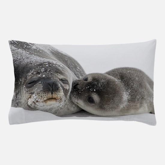 Seal Pup Kisses Mom Pillow Case