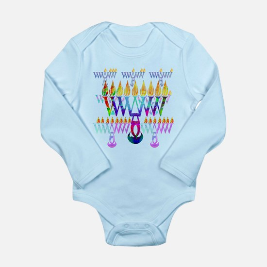 Cute Chanukiah Long Sleeve Infant Bodysuit