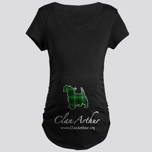 Clan Arthur Scotty Dog Maternity Dark T-Shirt