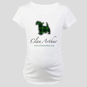 Clan Arthur Scotty Dog Maternity T-Shirt