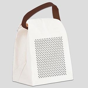 Polka Dots Canvas Lunch Bag