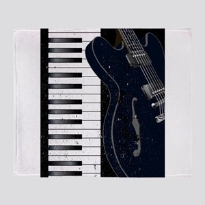 Jazz Instrument Background Throw Blanket