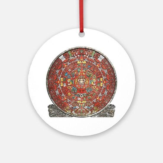 Mayan Calendar . Round Ornament