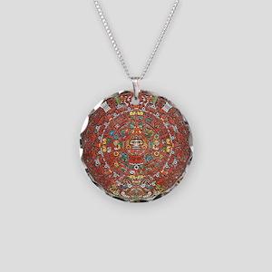 Mayan Calendar . Necklace Circle Charm