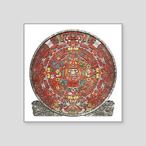 """Mayan Calendar . Square Sticker 3"""" x 3"""""""