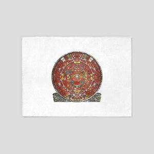 Mayan Calendar . 5'x7'Area Rug