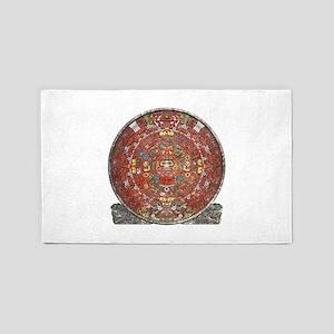 Mayan Calendar . Area Rug
