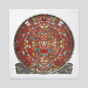 Mayan Calendar . Queen Duvet