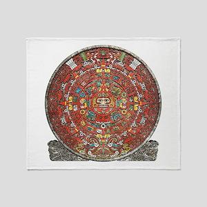 Mayan Calendar . Throw Blanket