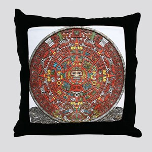 Mayan Calendar . Throw Pillow