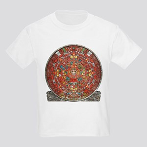 Mayan Calendar . Kids Light T-Shirt