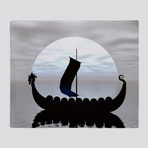 Viking Ship Throw Blanket