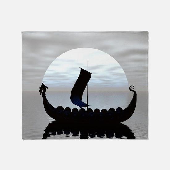Viking Ship Throw Blanket
