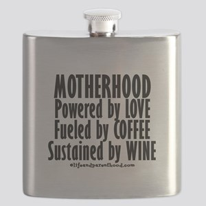 Motherhood Quote Flask