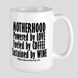 Motherhood Quote Large Mug