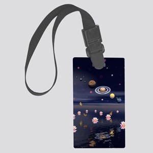 Lotus Universe Large Luggage Tag