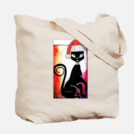 Santa Diva Cat Tote Bag