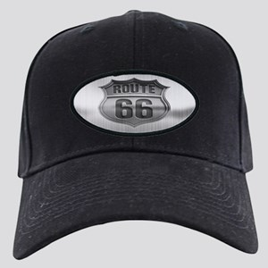 Route 66 Metal Black Cap
