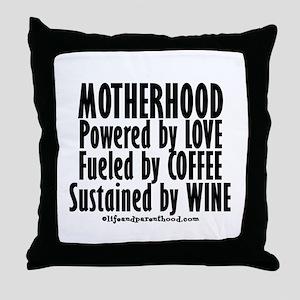 Motherhood Quote Throw Pillow