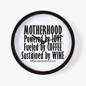 Motherhood Quote Wall Clock
