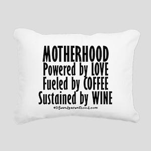 Motherhood Quote Rectangular Canvas Pillow