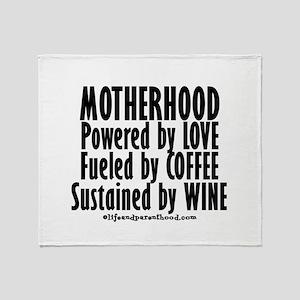 Motherhood Quote Throw Blanket
