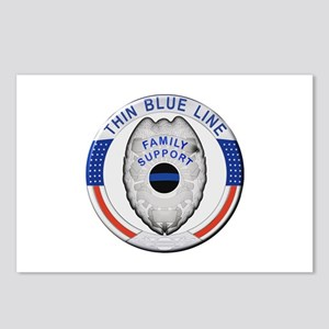 Family Thin Blue Line Postcards (Package of 8)