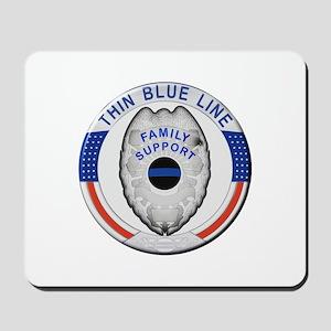 Family Thin Blue Line Mousepad