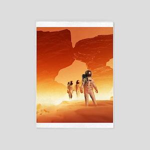Mars Explorers 5'x7'Area Rug