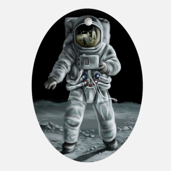 Moonwalker Astronaut Oval Ornament