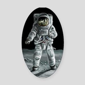 Moonwalker Astronaut Oval Car Magnet