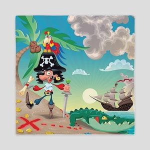 Pirate Cartoon Queen Duvet
