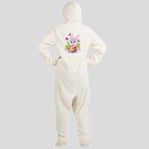 Pink Easter Bunny Footed Pajamas