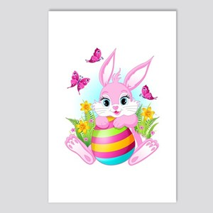Pink Easter Bunny Postcards (Package of 8)