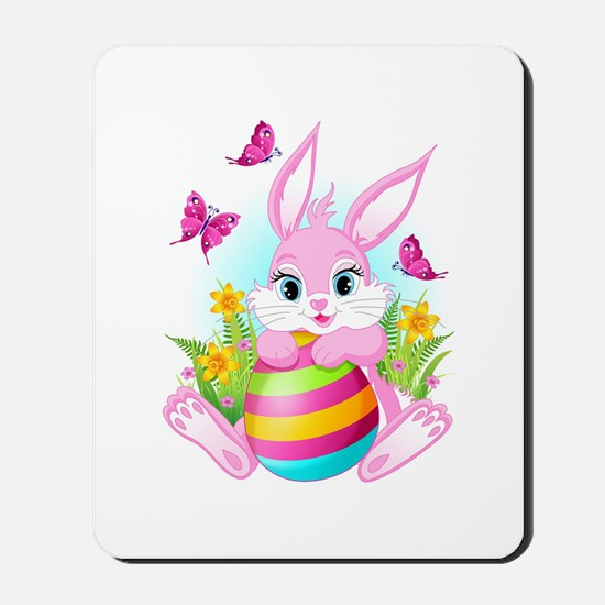 Pink Easter Bunny Mousepad