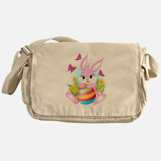 Pink Easter Bunny Messenger Bag