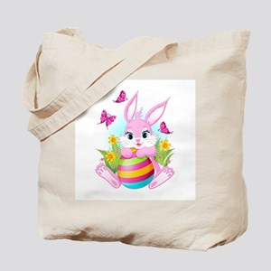 Pink Easter Bunny Tote Bag