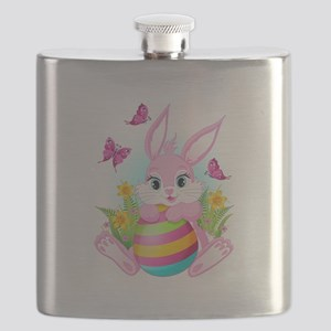 Pink Easter Bunny Flask