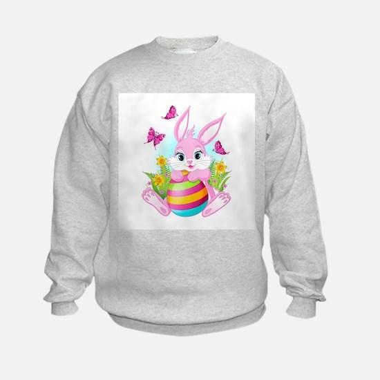Pink Easter Bunny Sweatshirt