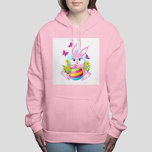 Pink Easter Bunny Women's Hooded Sweatshirt
