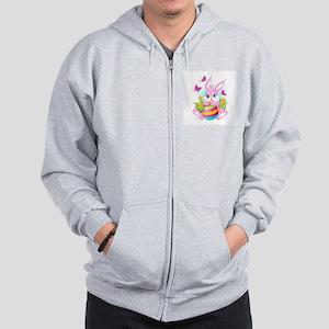 Pink Easter Bunny Zip Hoodie