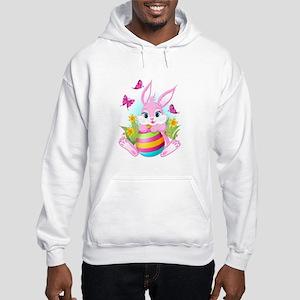 Pink Easter Bunny Hooded Sweatshirt
