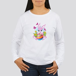 Pink Easter Bunny Women's Long Sleeve T-Shirt