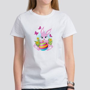 Pink Easter Bunny Women's T-Shirt